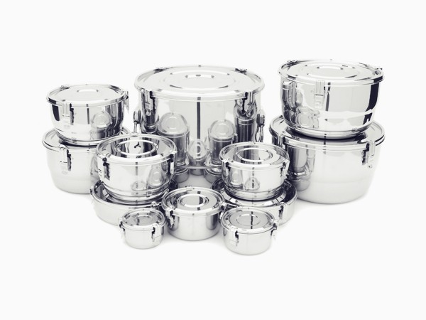 Large Onyx Stainless Steel Airtight Storage Container With