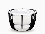 Onyx Stainless Steel Airtight Container Food Storage 67 Ounces 20cm