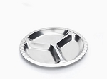 Onyx Stainless Steel Divided Plate -- Medium Round