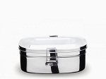 Onyx Stainless Steel  Lunch Box -- Large 2 layer Sandwich