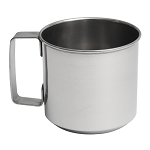 Lindys Stainless Steel Metal Drinking Cup -- Tin Cup Style