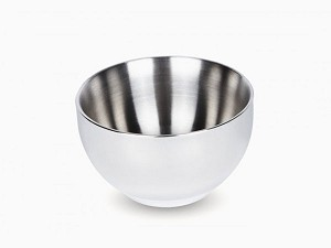 Onyx Stainless Steel Double Wall Insulated Medium Bowl