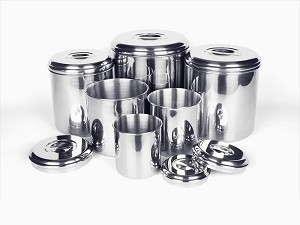 Onyx Stainless Steel Canister Set - Six Pieces