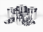 Onyx Stainless Steel Canister Set -- Six Pieces