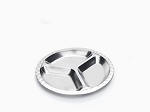 Onyx Stainless Steel Small Round Divided Plate