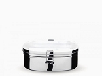 Onyx Stainless Steel Medium 2-Layer Sandwich Lunch Box Food Storage Container