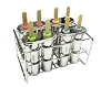 Onyx Stainless Steel Popsicle Molds -- Ice Pop Mold Double Style