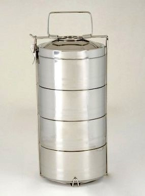 Onyx Stainless Steel Lunch Box -- Four-Layer Tiffin Bento Box