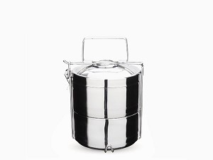 Onyx Stainless Steel Lunch Box -- Two-Layer Tiffin Bento Box